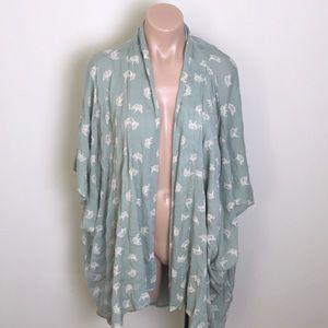 Symbology | Sage Jade Green Kimono Ginkgo Leafs